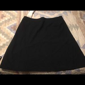 Black slight flare skirt